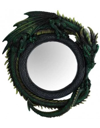 Green Dragon Wall Mirror Mythic Decor  Dragon Statues, Angels, Myths & Legend Statues & Home Decor