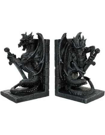Dragon Heraldic Bookends Mythic Decor  Dragon Statues, Angels, Myths & Legend Statues & Home Decor