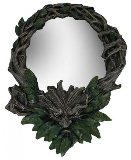 Greenman Wall Mirror at Mythic Decor,  Dragon Statues, Angels, Myths & Legend Statues & Home Decor