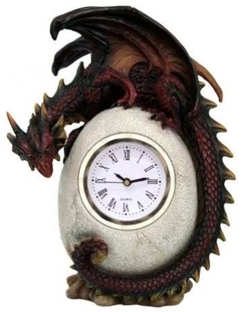 Dragon Egg Table Clock Mythic Decor  Dragon Statues, Angels & Demons, Myths & Legends |Statues & Home Decor