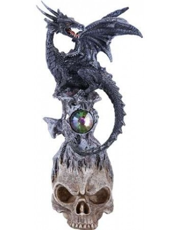 Black Dragon on Skull Fantasy Art Statue Mythic Decor  Dragon Statues, Angels & Demons, Myths & Legends |Statues & Home Decor