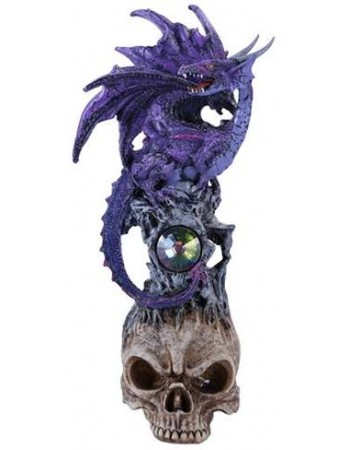 Purple Dragon on Skull Fantasy Art Statue Mythic Decor  Dragon Statues, Angels, Myths & Legend Statues & Home Decor