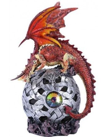 Red Dragon LED Ball Mythic Decor  Dragon Statues, Angels, Myths & Legend Statues & Home Decor