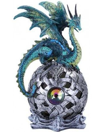 Blue Dragon LED Ball Mythic Decor  Dragon Statues, Angels & Demons, Myths & Legends |Statues & Home Decor