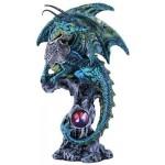 Blue Dragon Fantasy Art Statue at Mythic Decor,  Dragon Statues, Angels & Demons, Myths & Legends |Statues & Home Decor