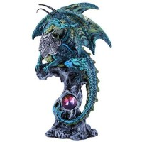 Blue Dragon Fantasy Art Statue