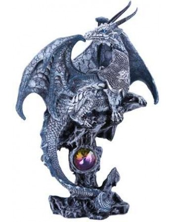 Gray Dragon Fantasy Art Statue Mythic Decor  Dragon Statues, Angels & Demons, Myths & Legends |Statues & Home Decor