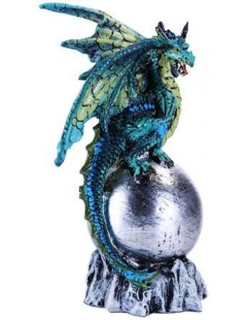 Green Dragon on Orb Fantasy Art Statue Mythic Decor  Dragon Statues, Angels & Demons, Myths & Legends |Statues & Home Decor