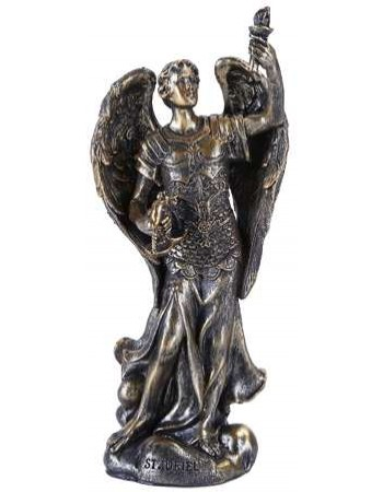 Archangel Uriel Small Bronze Christian Statue Mythic Decor  Dragon Statues, Angels & Demons, Myths & Legends |Statues & Home Decor