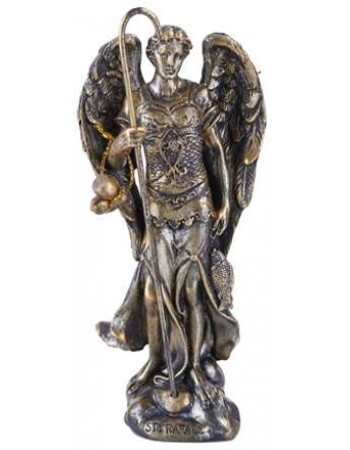 Archangel Raphael Small Bronze Christian Statue Mythic Decor  Dragon Statues, Angels, Myths & Legend Statues & Home Decor