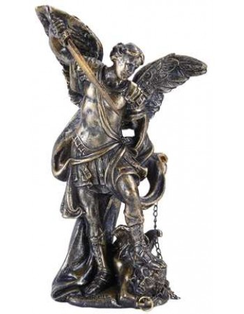 Archangel Michael Small Bronze Christian Statue Mythic Decor  Dragon Statues, Angels, Myths & Legend Statues & Home Decor