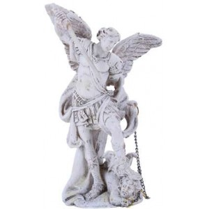 Archangel Michael Small Christian Statue Mythic Decor  Dragon Statues, Angels & Demons, Myths & Legends |Statues & Home Decor