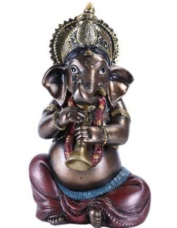 Ganesha with Horn Small Bronze Resin Statue Mythic Decor  Dragon Statues, Angels, Myths & Legend Statues & Home Decor