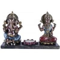 Ganesha and Krishna Candle Holder