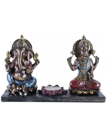 Ganesha and Krishna Candle Holder Mythic Decor  Dragon Statues, Angels, Myths & Legend Statues & Home Decor