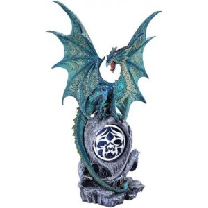 Jade Dragon Light by Ruth Thompson Mythic Decor  Dragon Statues, Angels & Demons, Myths & Legends |Statues & Home Decor