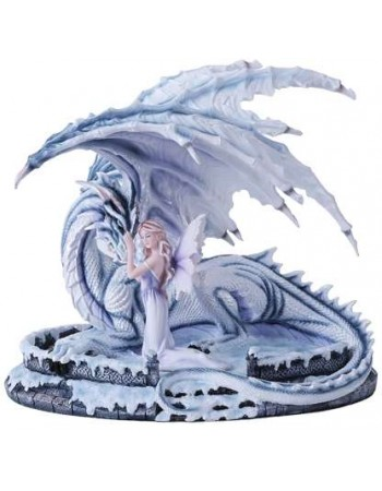 Ice Dragon with Fairy Statue Mythic Decor  Dragon Statues, Angels & Demons, Myths & Legends |Statues & Home Decor