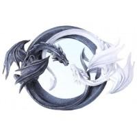 Ying Yang Dragon Wall Mirror