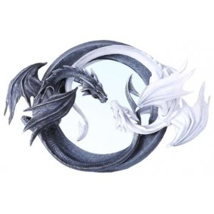 Ying Yang Dragon Wall Mirror Mythic Decor  Dragon Statues, Angels & Demons, Myths & Legends |Statues & Home Decor