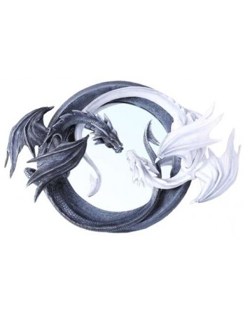 Ying Yang Dragon Wall Mirror Mythic Decor  Dragon Statues, Angels, Myths & Legend Statues & Home Decor