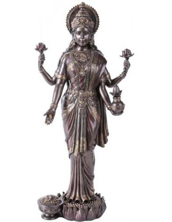 Lakshmi Hindu Goddess of Luck and Wealth Bronze Resin Statue Mythic Decor  Dragon Statues, Angels & Demons, Myths & Legends |Statues & Home Decor
