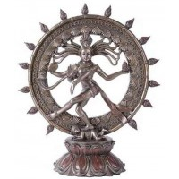 Shiva Nataraja Lord of Dancers Hindu Bronze Resin Statue