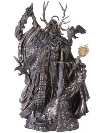 Merlin, Master of Magic Statue with Excalibur Mythic Decor  Dragon Statues, Angels & Demons, Myths & Legends |Statues & Home Decor