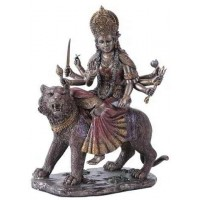 Durga, Hindu Goddess of Justice Bronze Resin Statue
