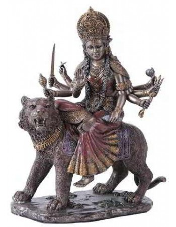 Durga, Hindu Goddess of Justice Bronze Resin Statue Mythic Decor  Dragon Statues, Angels & Demons, Myths & Legends |Statues & Home Decor