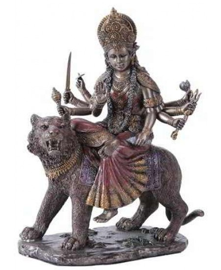 Durga, Hindu Goddess of Justice Bronze Resin Statue at Mythic Decor,  Dragon Statues, Angels, Myths & Legend Statues & Home Decor