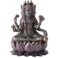 Brahma Bronze Resin Hindu God Statue
