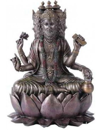 Brahma Bronze Resin Hindu God Statue Mythic Decor  Dragon Statues, Angels & Demons, Myths & Legends |Statues & Home Decor