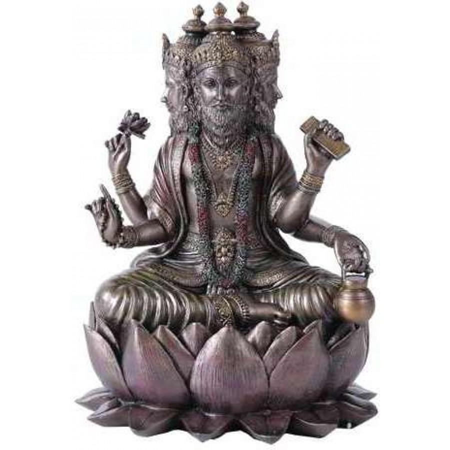 Brahma Bronze Resin Hindu God Statue