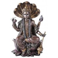 Vishnu Bronze Resin Hindu God Statue