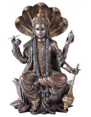 Vishnu Bronze Resin Hindu God Statue Mythic Decor  Dragon Statues, Angels, Myths & Legend Statues & Home Decor
