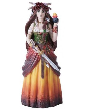 Brigid Goddess Statue Mythic Decor  Dragon Statues, Angels, Myths & Legend Statues & Home Decor