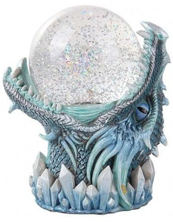 Frost Dragon Head Storm Ball Statue Mythic Decor  Dragon Statues, Angels & Demons, Myths & Legends |Statues & Home Decor