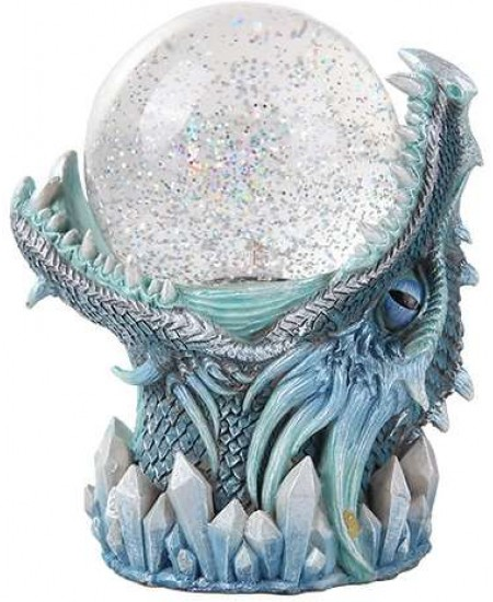 Frost Dragon Head Storm Ball Statue at Mythic Decor,  Dragon Statues, Angels, Myths & Legend Statues & Home Decor