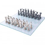 Greek Mythology Gods Chess Set with Glass Board at Mythic Decor,  Dragon Statues, Angels & Demons, Myths & Legends |Statues & Home Decor