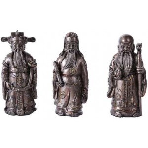 Fu Lo Shou Wise Men Set of 3 Statues Mythic Decor  Dragon Statues, Angels & Demons, Myths & Legends |Statues & Home Decor