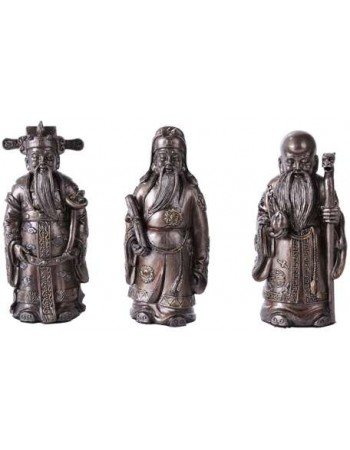 Fu Lo Shou Wise Men Set of 3 Statues Mythic Decor  Dragon Statues, Angels, Myths & Legend Statues & Home Decor