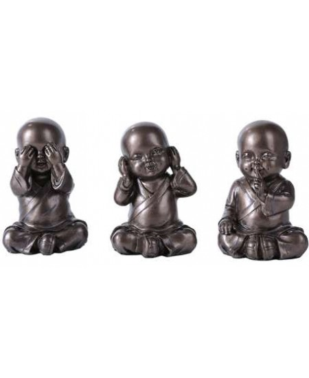 No Evil Monks Set of 3 Statue at Mythic Decor,  Dragon Statues, Angels & Demons, Myths & Legends |Statues & Home Decor