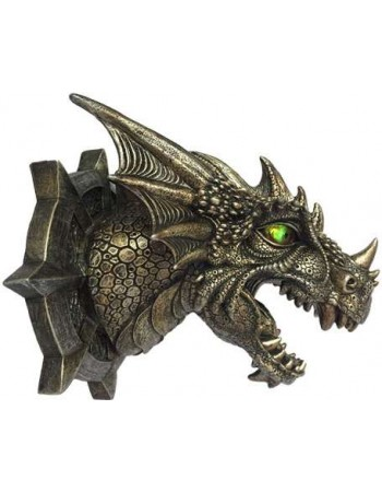 Trophy Dragon Head LED Wall Plaque Mythic Decor  Dragon Statues, Angels, Myths & Legend Statues & Home Decor