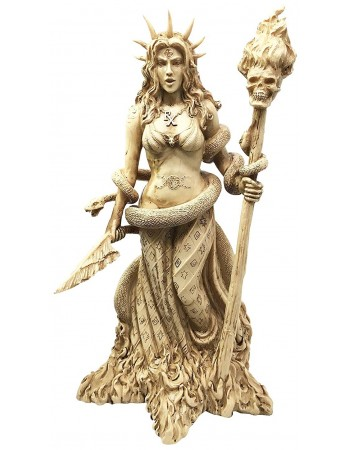 Hecate Greek Goddess of the Underworld Resin Statue