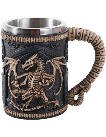 Skeleton Dragon Drinking Tankard Mythic Decor  Dragon Statues, Angels, Myths & Legend Statues & Home Decor
