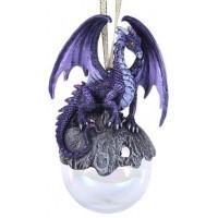 Purple Hoarfrost Dragon Ornament