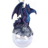 Purple Talisman Dragon Ornament