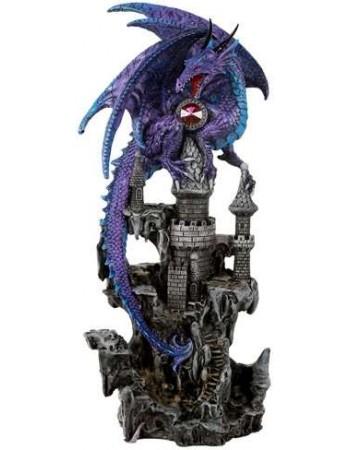 Purple Dragon Castle Guardian Statue