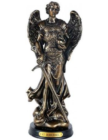Archangel Jehudiel Bronze Christian Statue Mythic Decor  Dragon Statues, Angels, Myths & Legend Statues & Home Decor