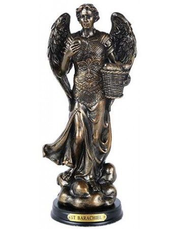 Archangel St Barachiel Bronze Christian Statue Mythic Decor  Dragon Statues, Angels & Demons, Myths & Legends |Statues & Home Decor